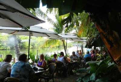 Guanabanas, an outdoor, waterfront restaurant in Jupiter, Florida