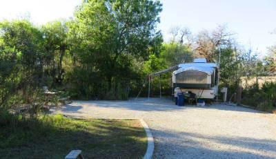 Newer Palmetto Ridge campsite at Myakka River State Park.