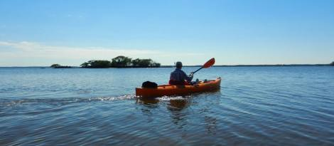 From Everglades City, it's an easy kayak to the first of the 10,000 Islands.