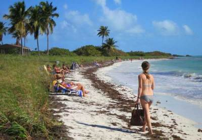Sandspur Beach at Bahia Honda State Park in the Florida Keys.