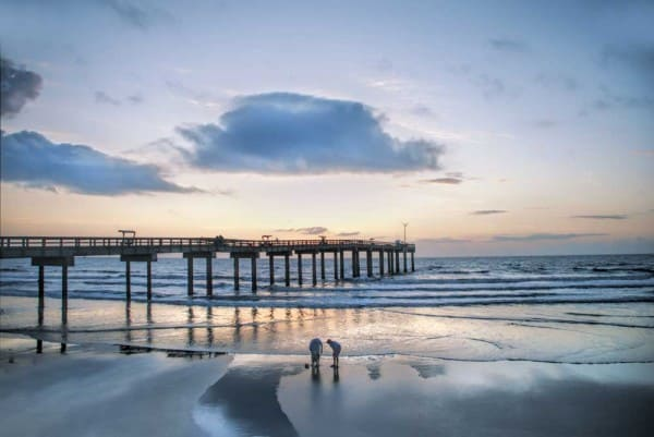 The spectacular beach, dunes and pier near St. Augustine. (Courtesy FloridaHistoricCoast.com)