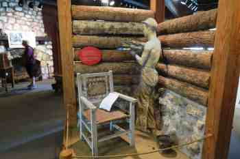 Exhibit inside the Civilian Conservation Corps Museum at Highland Hammocks State Park.