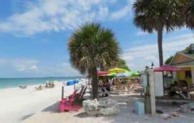 The Paradise Grille is right on the sand of Pass A Grille beach.