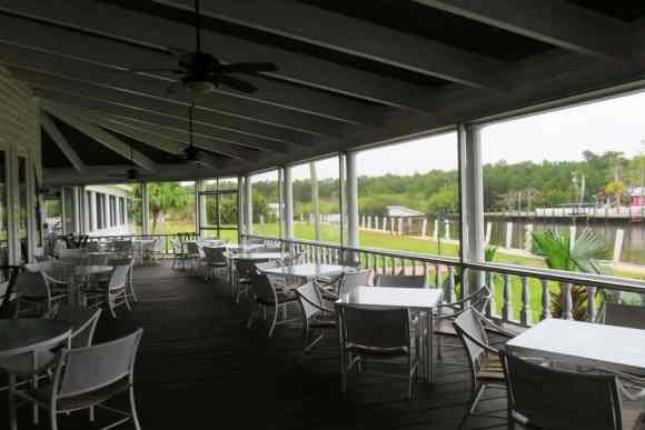 The Everglades Rod and Gun Club has a large screened porch off their dining room. (Photo: Bonnie Gross)