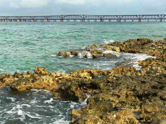 Little Bahia Honda Island, two-thirds of a mile out in the Atlantic, has a view of the historic saddleback bridge at Bahia Honda State Park. (Photo: Bonnie Gross)