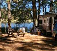Our lakefront campsite.