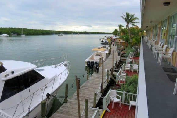 The view at the motel at Gilbert's Resort in Key Largo. (Photo: David Blasco)