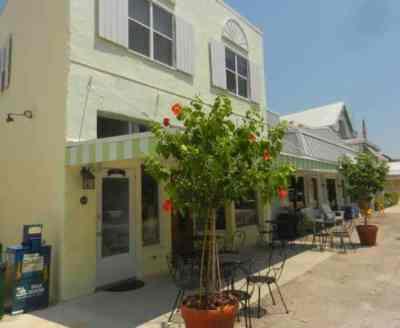 Historic downtown of Boca Grande, a Gulf Coast Florida island.