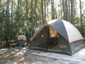 Campsite at Orange County's Moss Park