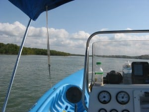 Transporting gear into the Ten Thousand Islands