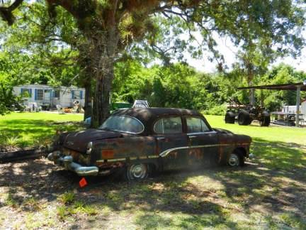 Old car Pinecrest Loop Road