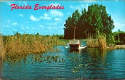 Vintage postcard of airboat ride (Photo: Florida Memory Project)