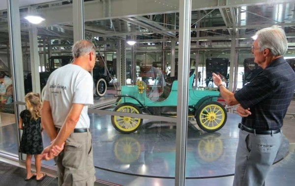 Visitors choose a car via a touch screen and a robotic system delivers it to the turntable for display at the Elliott Museum on Hutchinson Island near Stuart.