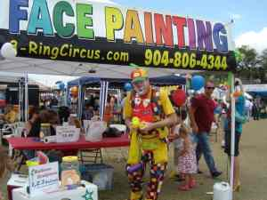 Face painting booth at the St. Augustine Lions Club Seafood Festival