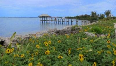The House of Refuge on Hutchinson Island overlooks the ocean on one side and this view of the Indian River Lagoon in the other.
