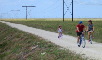 The bike trail at Markham Park in Sunrise is a safe spot for family biking.