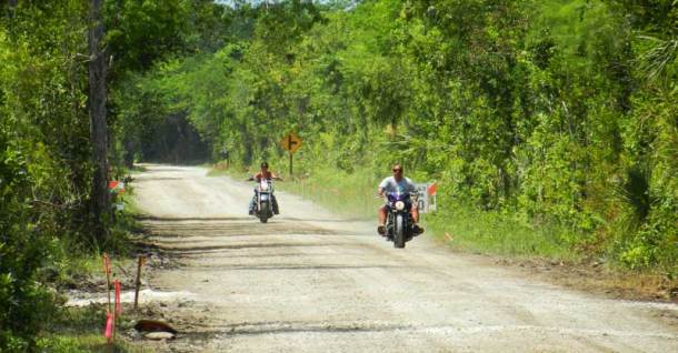 Motorcyclists on Loop Road