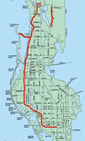 Map of the Pinellas Trail