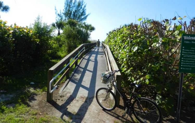 Biking Sanibel: By bicycle, you can stop at beach access spots that don't have vehicle parking.