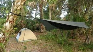 Primitive campsite at St Sebastian River Preserve State Park