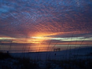 Sunset at Topsail Hill State Park