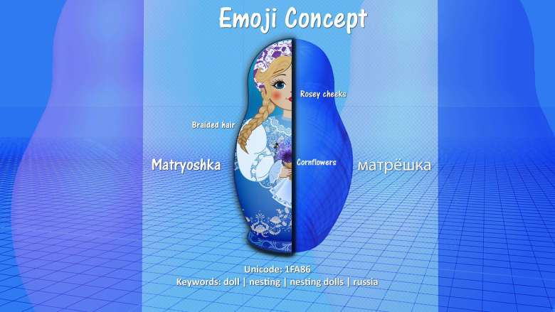 story of the russian doll emoji