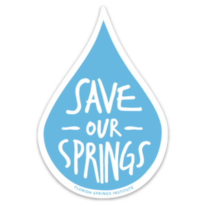 Save Our Springs Water Drop Sticker – 3 Pack
