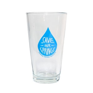 Save Our Springs Pint Glass