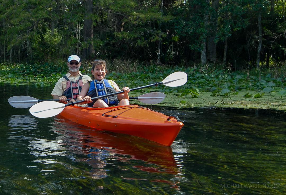 Senior Couple Kayaking Silver Springs