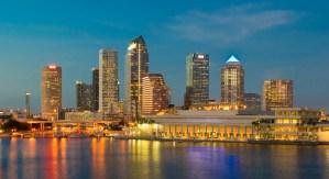 Tampa Skyline at Dusk
