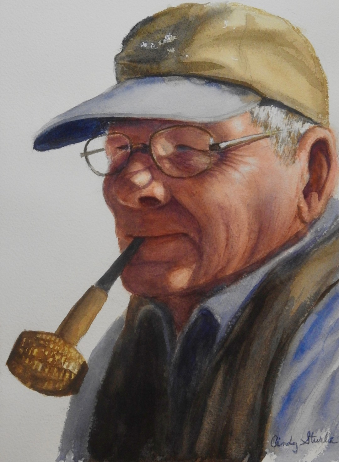 Sturla, Cindy - Charles Reid with Corn Cob Pipe