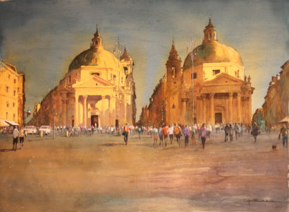 Boettcher, German - The Twins At Piazza Del Popolo