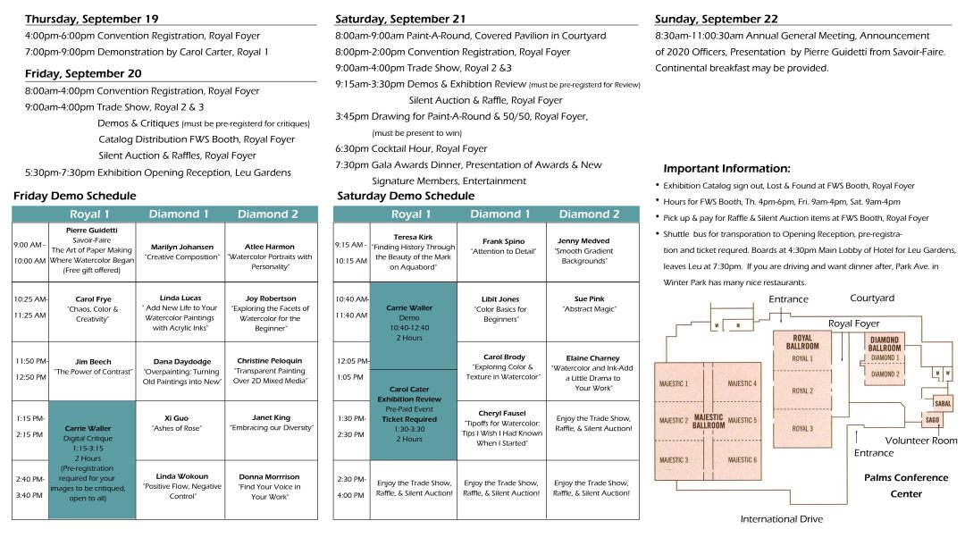 Convention Schedule
