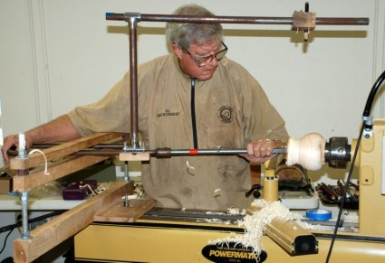 Al Hockenberry hollowing demo.JPG