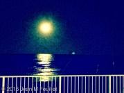 Vue de la super lune de notre condo