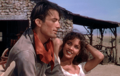 Jennifer Jones avec Gregory Peck dans Duel au Soleil (King Vidor, 1946)