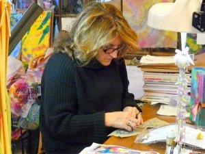 Floril at work in her studio