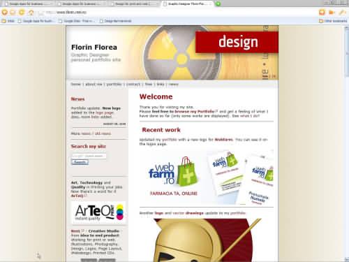 Portolio site - graphic designer Florin Florea