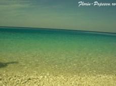 Insula Kefalonia - plaja Xi beach -apa limpede