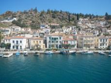 Panorama view Poros Port