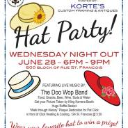 Wednesday Night Out Hat Party – June 28