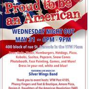 Wednesday Night Out – Proud to be an American – May 31