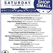 Shop Old Town Florissant on Small Business Saturday November 26
