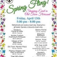 Spring Fling! Shopping Event on April 13