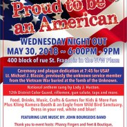 Wednesday Night Out: Proud to be an American on May 30