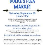 Goeke's Flea Market – Sept. 29