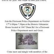 Florissant Police Department Meet & Greet – Oct. 17