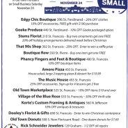 Small Business Saturday – Nov. 24