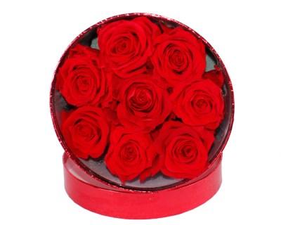 Caja Rosas Eternas · Floristería Pétalos Tienda Online en Alcalá de Henares · Madrid