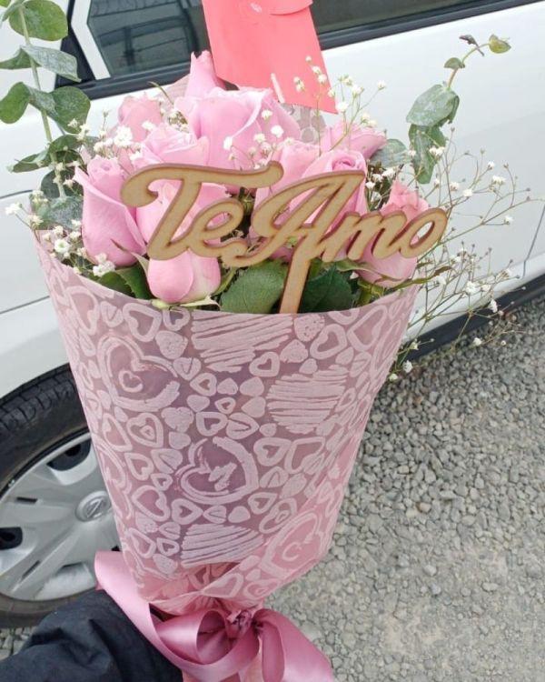 Bouquet de rosas rosas, florerías en Pachuca, Envío de flores a domicilio en Pachuca
